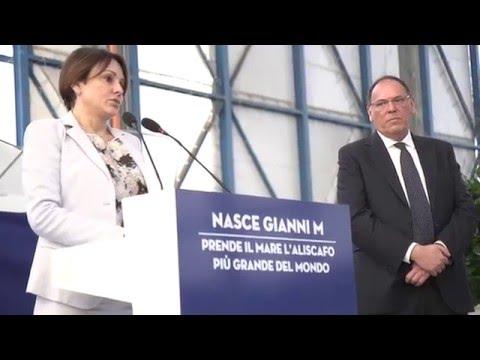 """Varo """"Gianni M."""" dell'Ustica Lines. L'aliscafo più grande al mondo"""