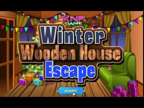 Knf Lovely Living Room Escape Walkthrough With Sectional And Loveseat Winter Wooden House Youtube