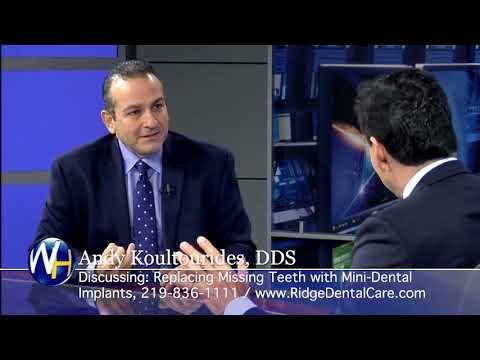 Replacing Missing Teeth with Mini-Dental Implants with Munster, IN dentist Dr. Andy Koultourides