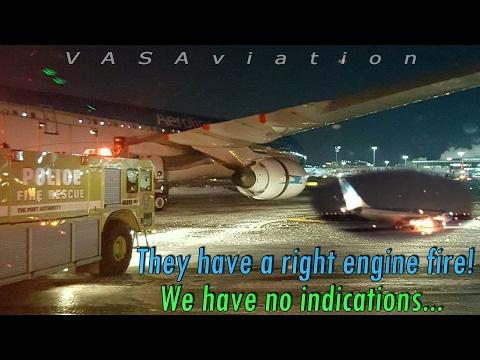 [REAL ATC] Aerolíneas Argentinas CAUGHT FIRE at Kennedy @JFK !