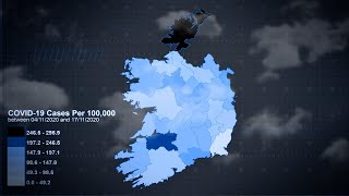 Map shows Covid-19 cases per 100k of population