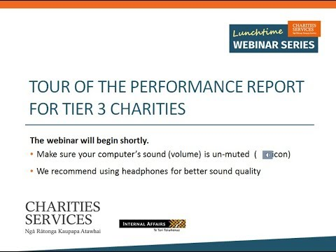Tier 3 Charities - Tour of the Performance Report