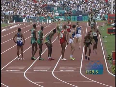 1996 Olympic Games   Mauritius 4x400 HEATS