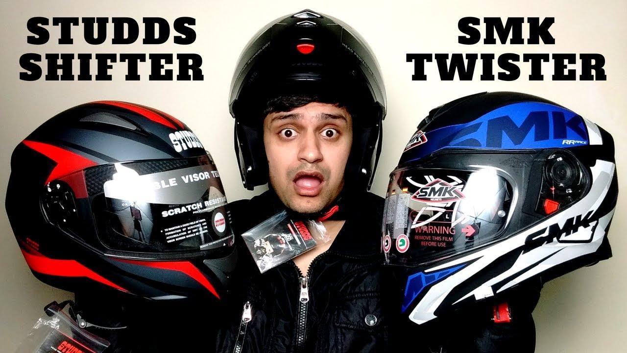 Studds Shifter Helmet Review Youtube: Studds Shifter Helmet SMK Twister Helmet Studds Ninja