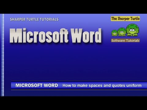 Microsoft Word - How to clean up spaces and quotes with replace