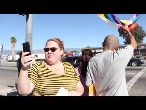 "Bumping ""Fuck Donald Trump"" By Nipsey Hussle & YG Thru A Donald Trump Protest Pt 2"