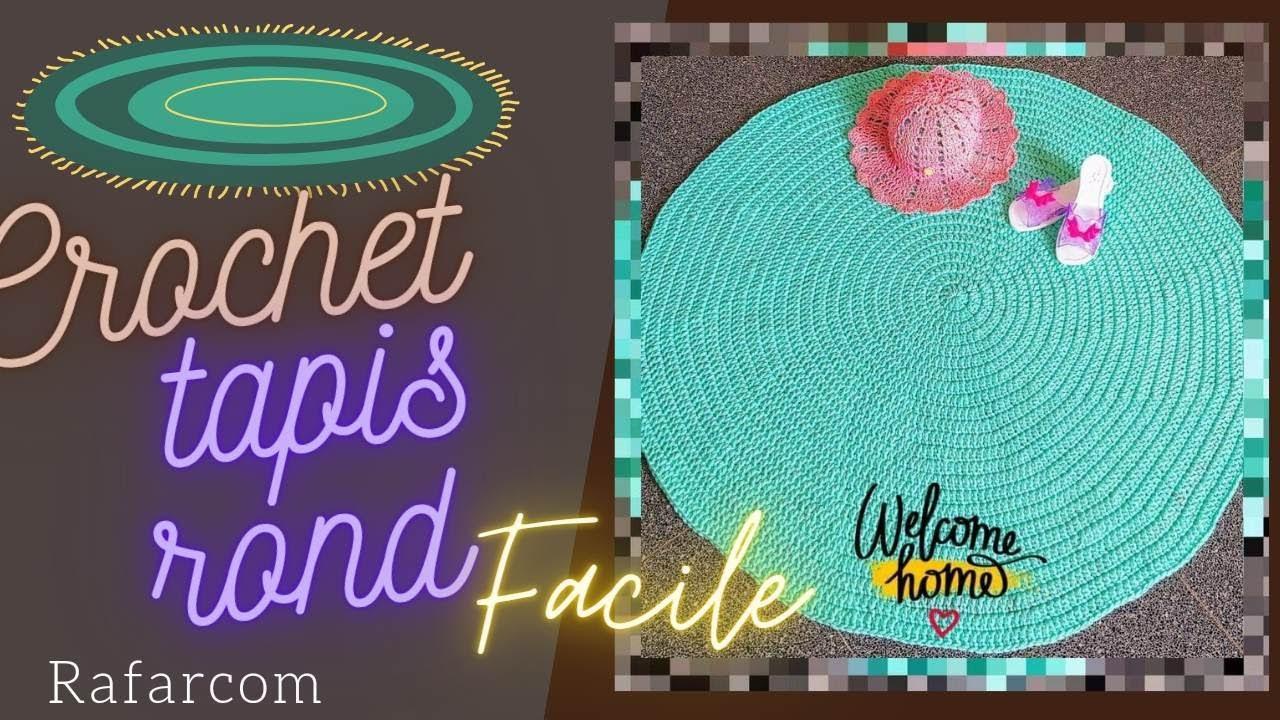 crochet tapis rond facile astuce sans mc sans compter