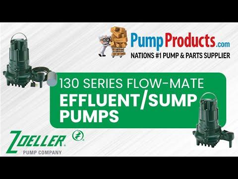 """Zoeller 130 Series """"Flow-Mate"""" Effluent Pump Product Highlight"""