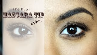 Mascara Hack: Long Voluminous Lashes WITHOUT Falsies-The BEST Mascara Tip!