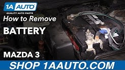 How to Replace Battery 03-09 Mazda 3