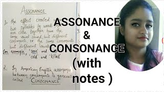 Assonance and consonance | explained in hindi and english | with proper examples and notes ||
