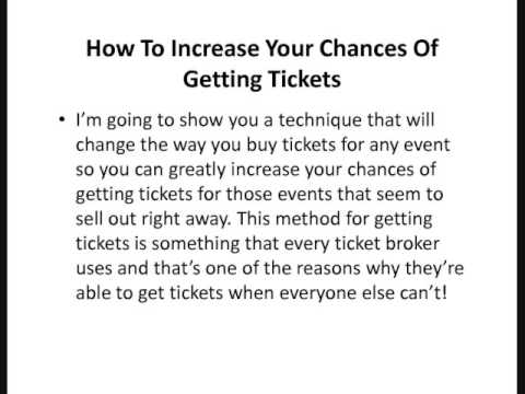 Become a ticket broker online.