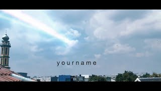 Download lagu KIMI NO NAWA (Your Name) TIAMAT COMET | After Effect Edit