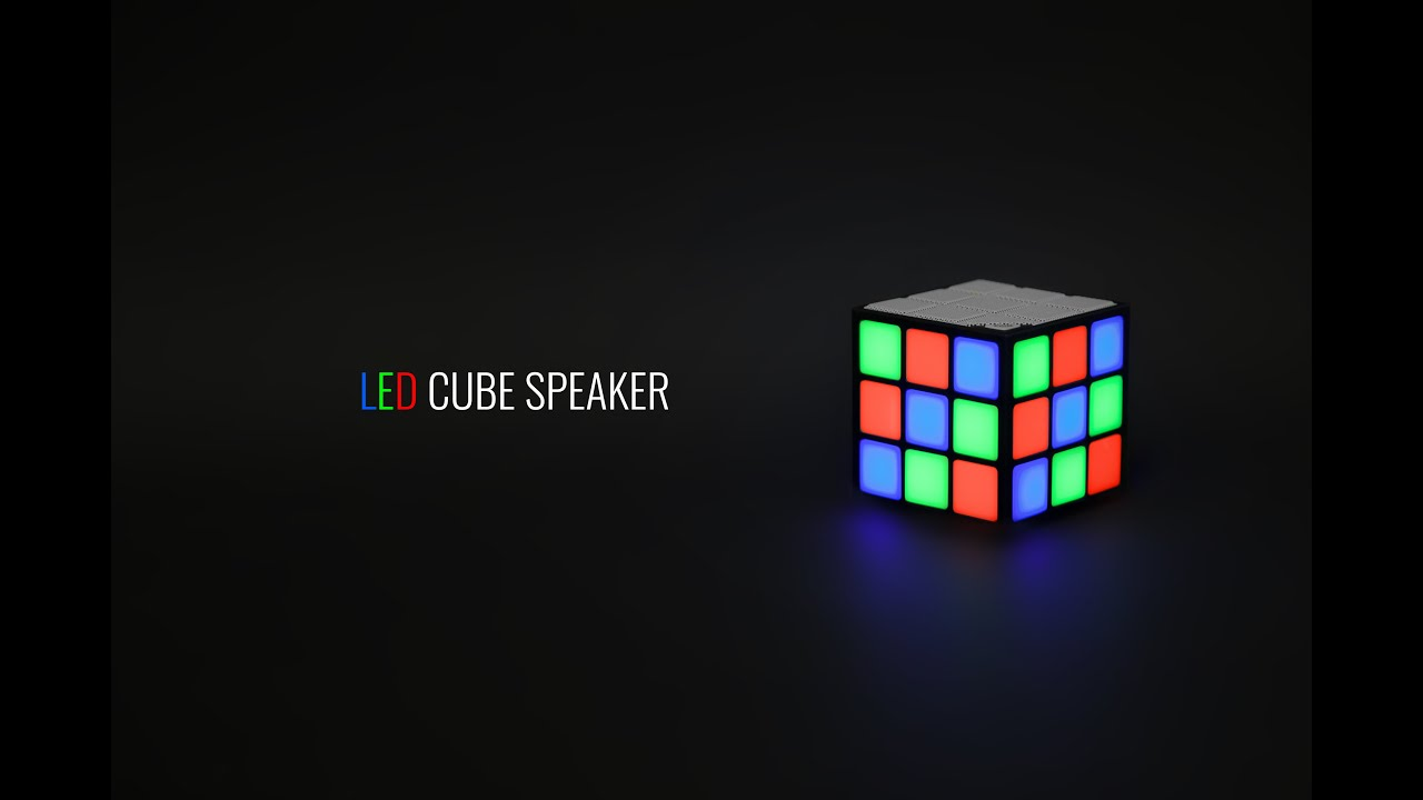 Led cube speaker youtube