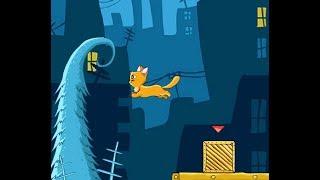 Мама кошка смотрит как ее котенок добирается до клубочка с нитками и мяукает) #1