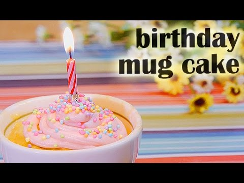 Birthday Mug Cake RECIPE