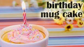 Birthday Mug Cake-(RECIPE) バースデーマグケーキの作り方(レシピ)