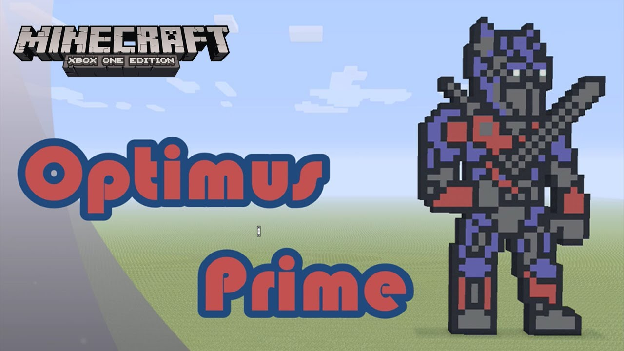 Minecraft Pixel Art Tutorial And Showcase Optimus Prime Transformers