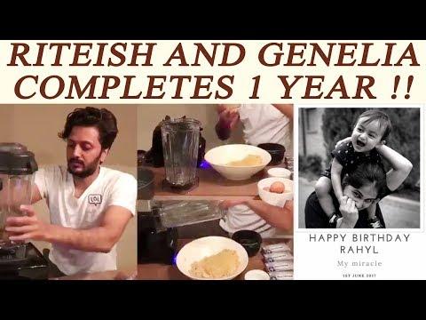 Riteish Deshmukh and Genelia CELEBRATES Rahyl first Birthday; Watch   FilmiBeat