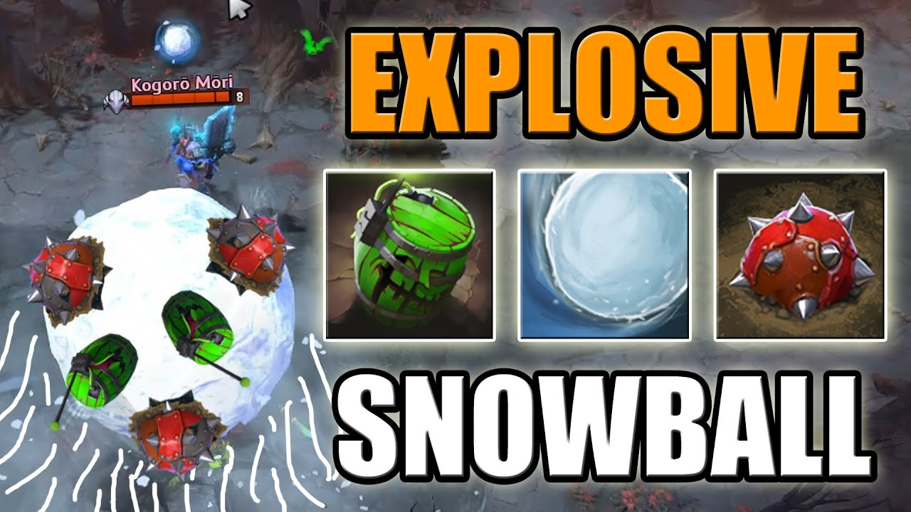 Snowball with Mines [Big BOOM Balloon]