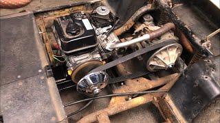 Installing predator 212 into golf cart