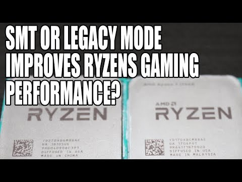 Investigating Ryzen Game Performance | Legacy Mode & SMT