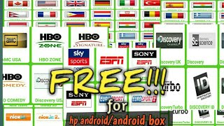 FREE!!!  LIVE TV 29 COUNTRY for hp&android box, LIVE TV SPORT, MOVIE, ANIMAL, CARTOON&TV MUSLIM