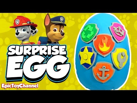 Thumbnail: SURPRISE EGGS Paw Patrol Nickelodeon Toys Chase Ryder Marshall Learn Colors an Educational Kid Video