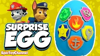 SURPRISE EGGS Paw Patrol Nickelodeon Toys Chase Ryder Marshall Learn Colors an Educational Kid Video