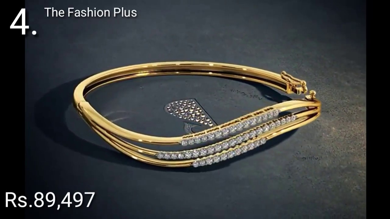 Gold Bangles |Bracelets Designs with PRICE By BLue Stone - YouTube