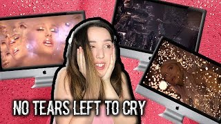 "reaccionando a ""no tears left to cry""💧ariana grande👑 6am"