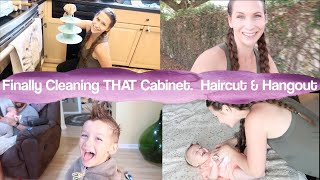 Finally Cleaning The Labrinth Cabinet!  Haircut & Hangout With Me!