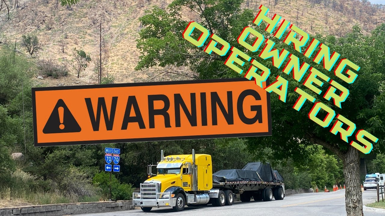 WARNIING Are you ready to lease on owner operators??  Tough question.