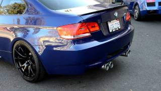 bmw e92 m3 with remus uss st race exhaust system