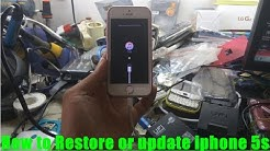 How to Restore or update iphone 5s ios 10.2.1 offline mode with itunes