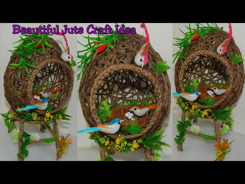Jute Craft Idea For Home Decoration/ Best Out of Waste Idea/