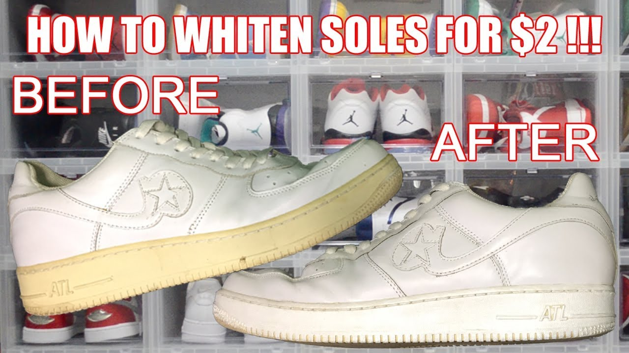 HOW TO WHITEN SHOE SOLES FOR ONLY $2