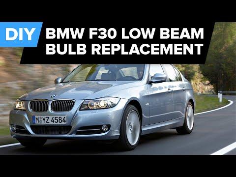 BMW F30 & F31 Low Beam Headlight Bulb Replacement DIY (128i, 328i, 528i, 750Li, M3, M5, M6, & more)