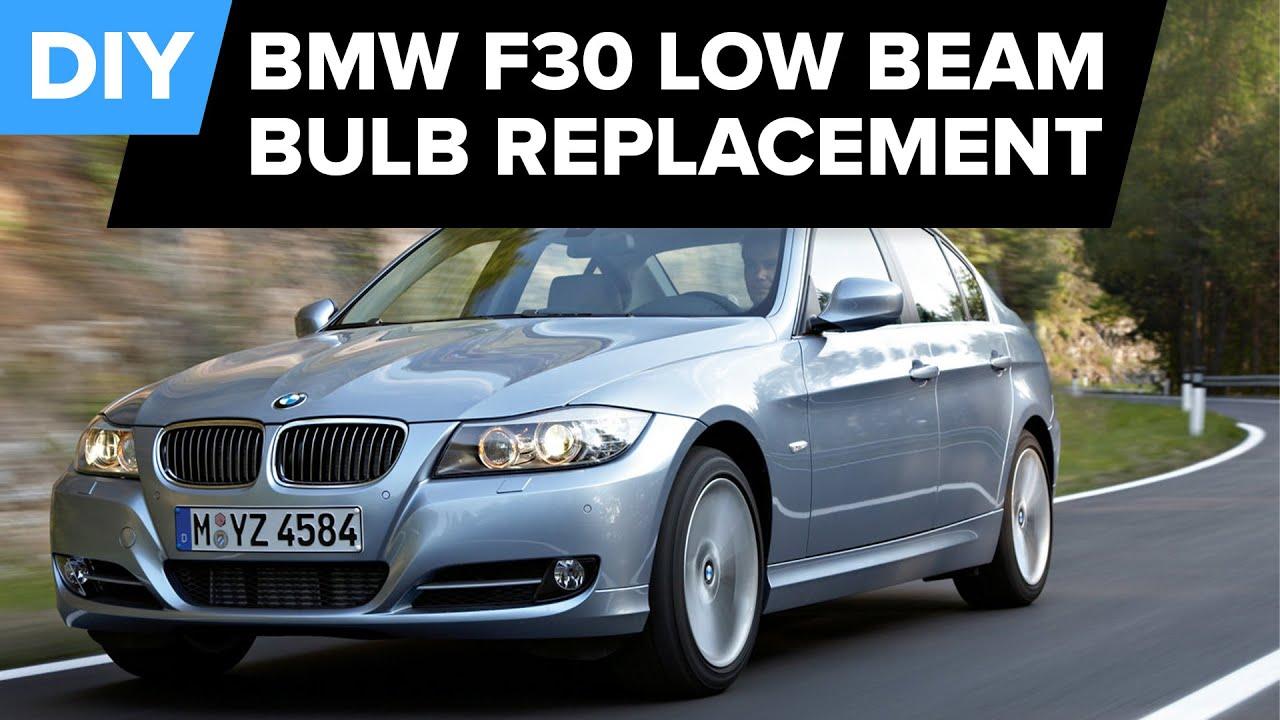Bmw F30 Low Beam Bulb Replacement Quick Diy 128i 328i 528i 2007 750i Fuse Diagram More