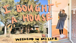 I *OFFICIALLY* BOUGHT A HOUSE: closing day, house tour, and renovations