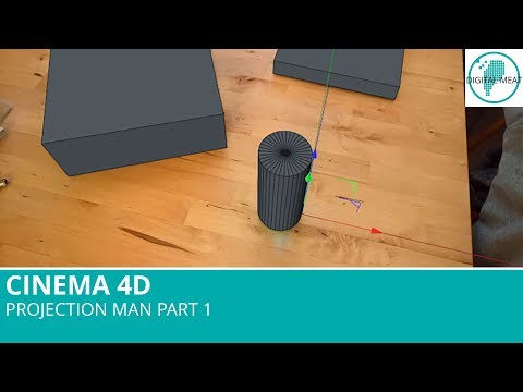 Projection Man In Cinema 4D Part 1: Camera Calibration and Modeling