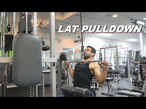 Lat Pulldowns Done Correctly!