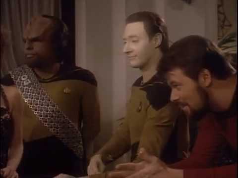 "Lieutenant Commander Data gambling in Hotel ""Royale"""