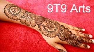 RAKHI Special Shaded Mehndi Design||Beautiful Stylish Arabic Henna Design||Easy Backhand Mehendi Art