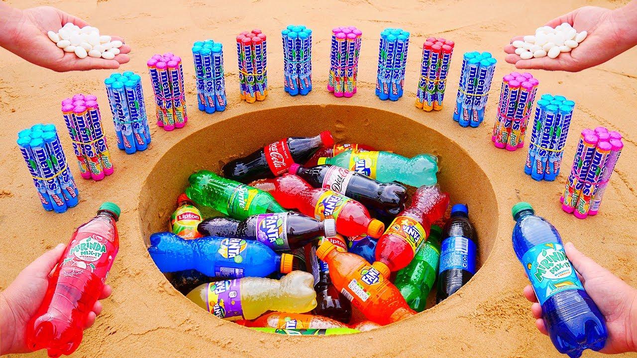 Download Mirinda Mix-it, Diet Coke, Different Fanta, Coca Cola and Many Other Sodas vs Mentos Underground