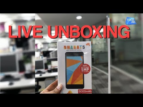 Micromax Bharat 5 : Live Unboxing :PART 2    Tech Tak