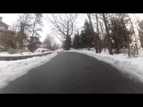 Snow Driving: A hairy ride up Ledger Rd. in Gloucester, Ma