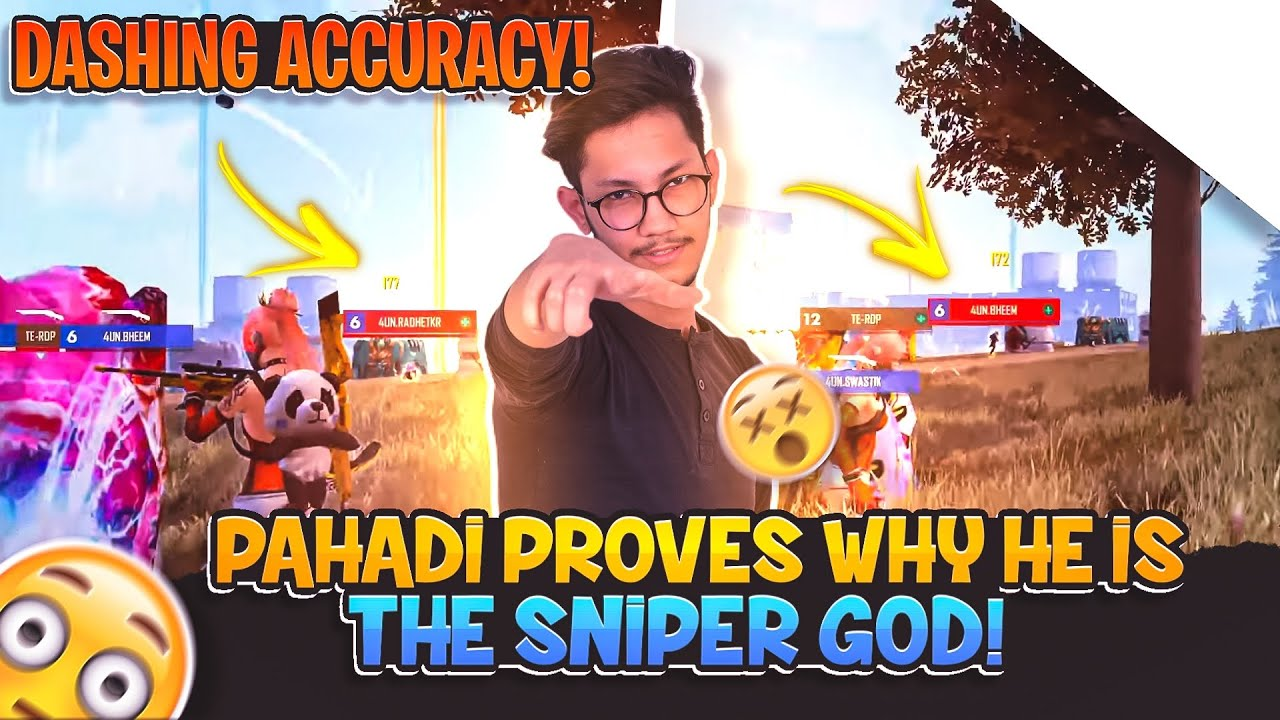 PAHADI PROVES WHY HE IS THE SNIPER GOD😈 || 1v4 SITUATION IN LAST ZONE😱ll
