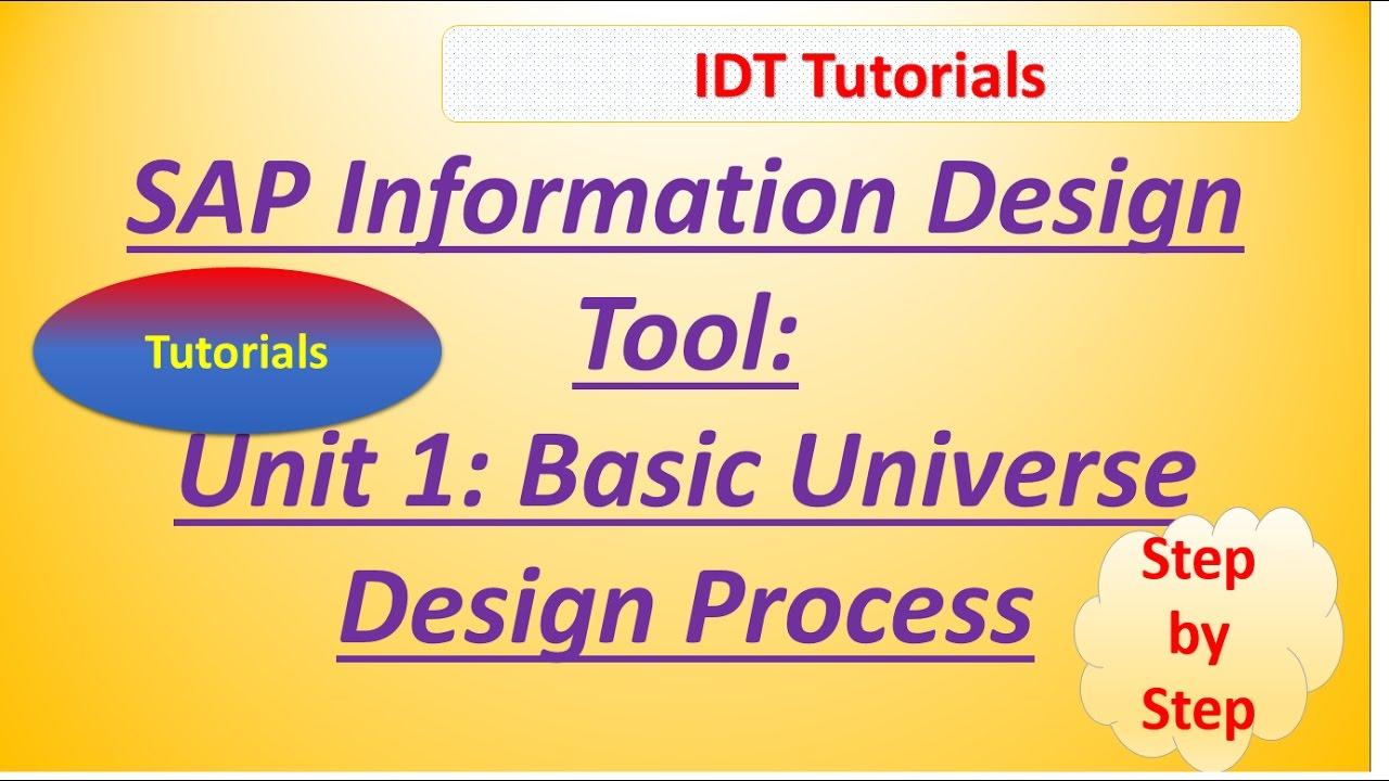 Sap idt unit 1 basic sap bo universe design process tutorial youtube sap idt unit 1 basic sap bo universe design process tutorial baditri Image collections
