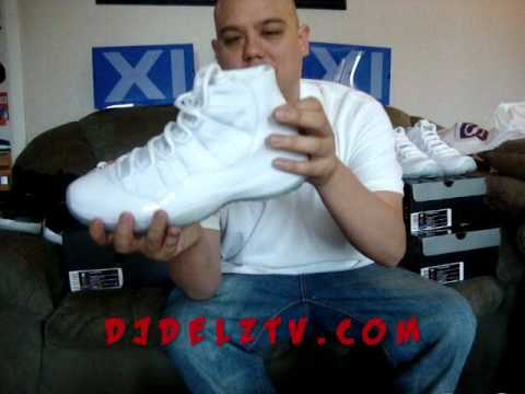 Dj Delz Tv Nike Jordan Xi 25th Anniversary W Jumpman Logo Youtube